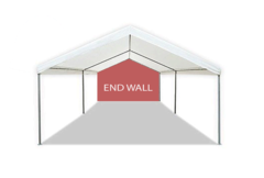 10' White solid back wall