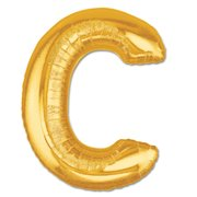 """C"" Gold Letter Inflated (34in)"