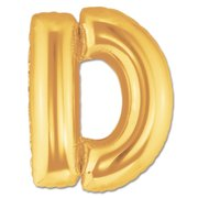 """D"" Gold Letter Inflated (34in)"
