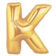 """K"" Gold Letter Inflated (34in)"