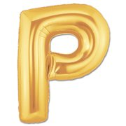 """P"" Gold Letter Inflated (34in)"