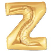 """Z"" Gold Letter Inflated (34in)"