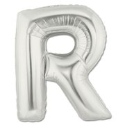 """R"" Silver Letter Inflated (34in)"