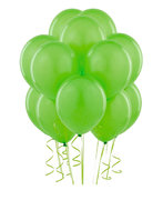 Lime Green Latex Balloons (w/Helium)