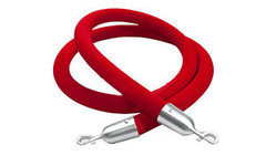 5' Red/silver Stanchion Rope