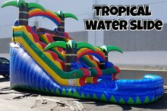 17' Tropical Palm Tree Water Slide