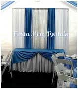 Custom Decorative Backdrop with Main Table Linen