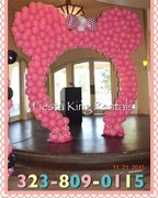 Large Minnie Mouse Balloon Arch