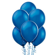 Royal Blue Latex Balloons (w/Helium)