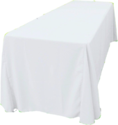 "90""x132"" Tablecloth (Polyester/White)"