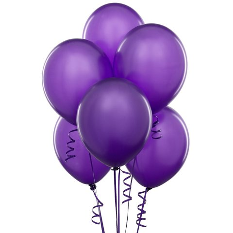 Purple Latex Balloons (w/Helium)