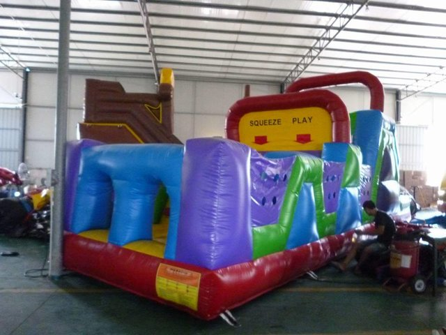 34ft Obstacle Course with slide
