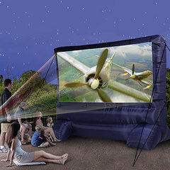12ft Movie Screen with projector