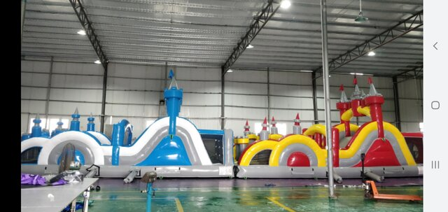 65ft Fire and Ice Obstacle Course