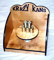 Krazy Kans with classic milk cans and large bean bag