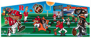 Themed Football Rutgers vs Princeton Jump15x15