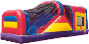 Rainbow combo 3 in 1 jump, climb with wet/dry slide Retired unit sold!