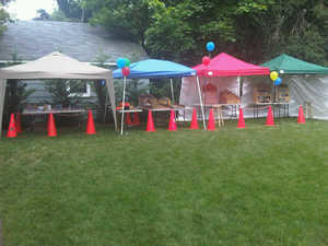 Canopy tent for Games or Food colorful
