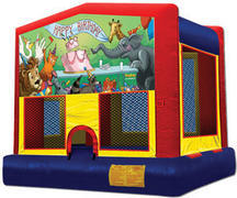 Themed Happy Bday Animals 5 M Jump13x13