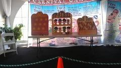 A450 Carnival Games 10-12 games and tables with pieces Your volunteers unload-setup-run- and reload truck No tents provided NO staff.  Normal price $450.