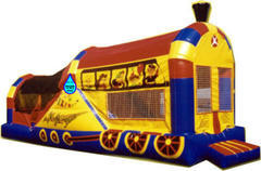 Chu-Chu Train Combo 4in1 Jump Climb Dry or Water Slide and basketball hoop