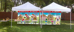 A350 Deluxe Carnival Game Package Backyard (6 games, tables, 2 canopy tents, 2 staff, 2 hours)
