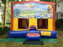 Themed Happy Birthday photo Jump15x15