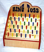 Ring Toss Pegs with rings classic carnival game