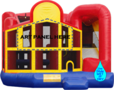 Colossal 5in1 THEMED Combo Jump, Obstacles, BBall, Rock Wall climb, Slippery water or dry slide. Select theme