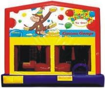 Themed Happy Birthday Curious George 5in1 Combo WITH TUNNEL