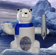 Snow Cone Polar Pete machine with supplies. Normal Price $110.00 Discounts with Inflatables or Carnival Games!