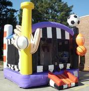 Deluxe Sports Bounce House with Interior Hoop