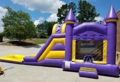 The Fun House Combination Jump, Climb & Slide with Pool