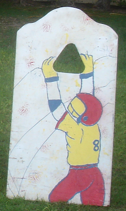 Football Toss Wooden Carnival Game