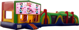 Minnie Mouse- 53' Obstacle Bouncer Combo