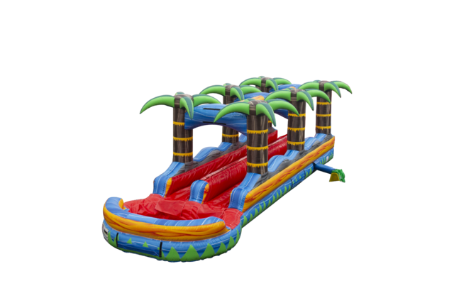 32ft Tropical Fireblast Slip n Slide (Double Lane)
