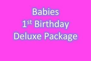 BABIES 1ST BIRTHDAY DELUXE PACKAGE