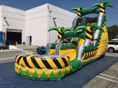 18ft Tropical Fire Water Slide Single Lane