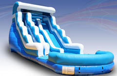 20Ft Double Lane Wave Water Slide with Pool