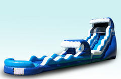 22ft Double Drop Water Slide with Slip n Slide Combo Single Lane