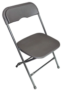 Chair- Charcoal Plastic Aluminum Framing