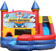 Happy Birthday Clown- 4n1 Curvy Slide Combo