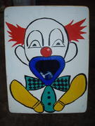 Clown Toss Wooden Carnival Game