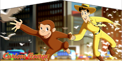 Curious George- 4n1 Curvy Slide Combo
