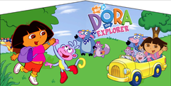 Dora The Explorer- 4n1 Curvy Slide Combo