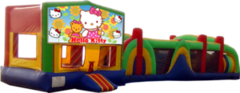 Hello Kitty- 53' Obstacle Bouncer Combo