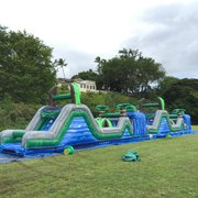 Blue Crush Obstacle Course (Double- 80' Long)