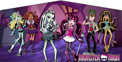Monster High- 15x15 Pink