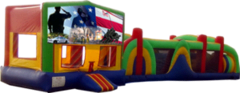 Patriotic- 53' Obstacle Bouncer Combo