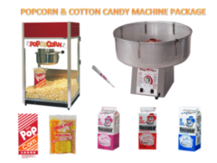 Cotton Candy and Popcorn Machine Package